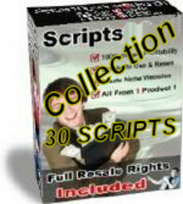 Product picture Script Collection 29 scripts plus Bonus - with MRR