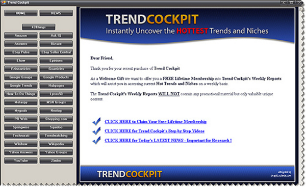 Product picture Trend Cockpit Instantly Uncover the Hottest Trends and Niche