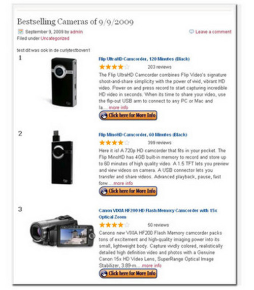 Product picture Amazon Best Sellers Wordpress Plugin