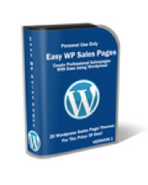 Product picture Easy Wp Sales Pages with Private Label Rights